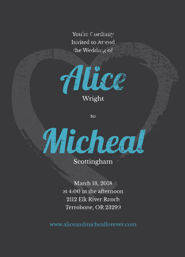 what is love 5x7 wedding invite prints of love