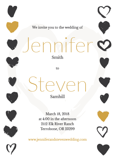 custom wedding invitation printing card