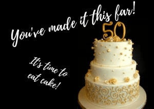 Classic 50th Birthday invitations